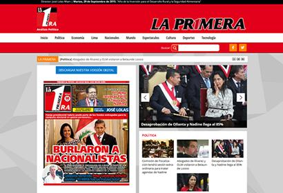 LA PRIMERA <span>Portal de Noticias<br>(WORDPRESS)</span>
